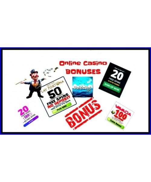 Online kasinove bonusy